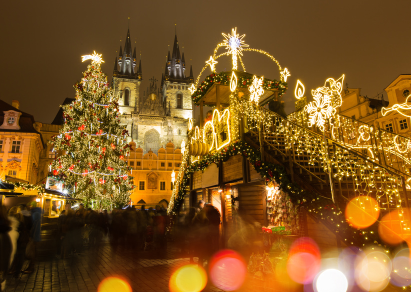 Marche de noel prague carte